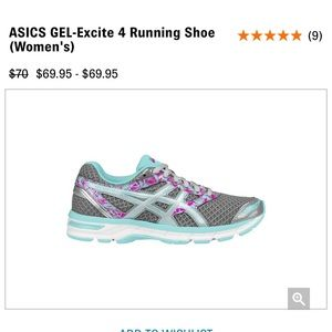 NWT Asics Gel Excite 4 Running Shoes